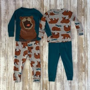 Carter's 4-Piece Bear Print Snug Fit PJs sz. 12M